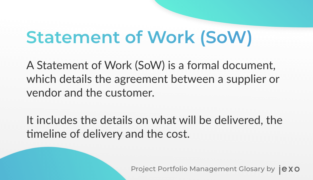 Definition - What is a statement of work?