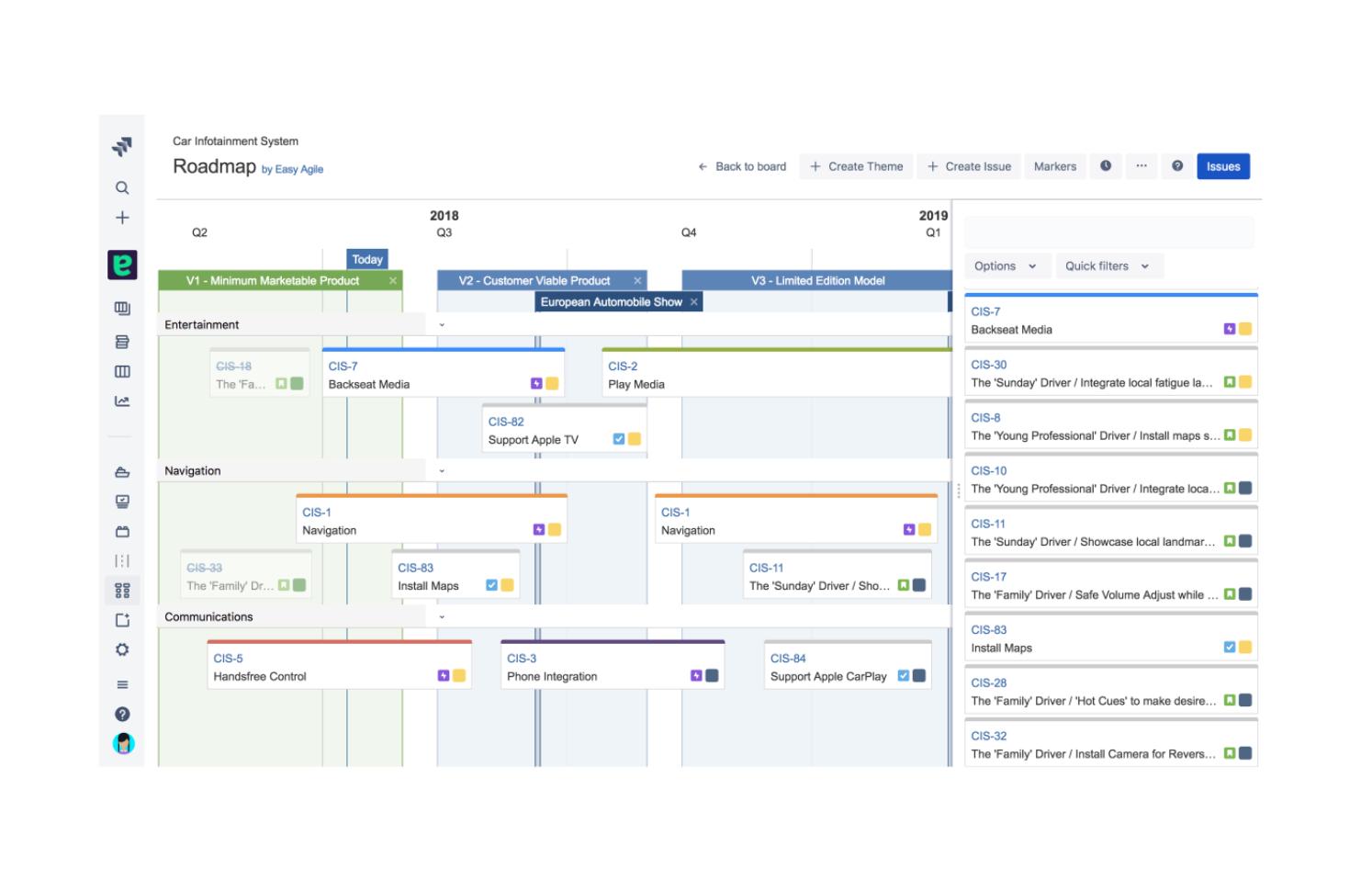 Easy Agile Roadmaps for Jira - project roadmap