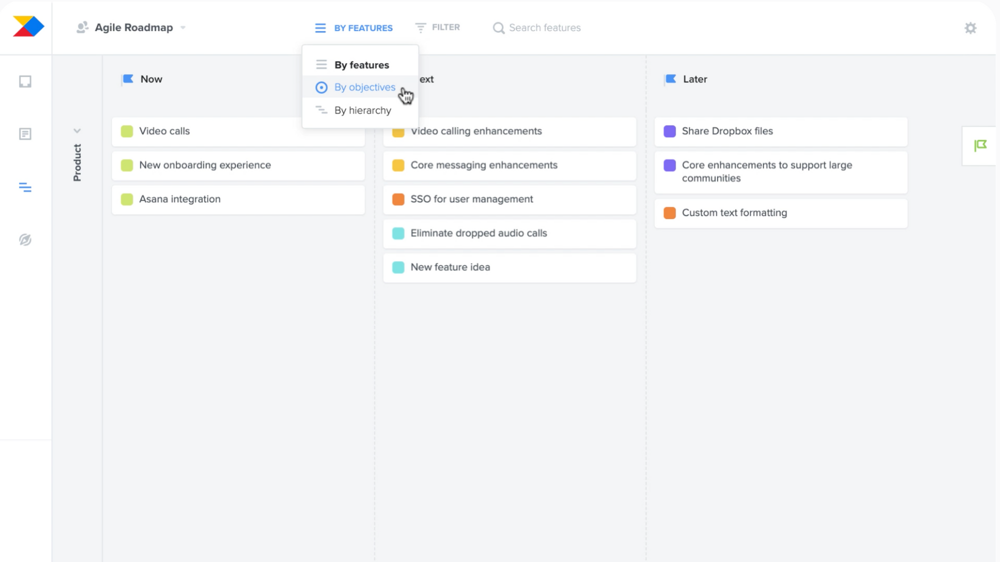Productboard - a product roadmap