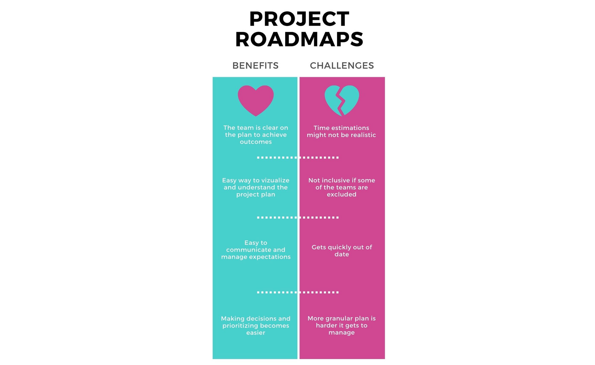 Project roadmaps: benefits and challenges