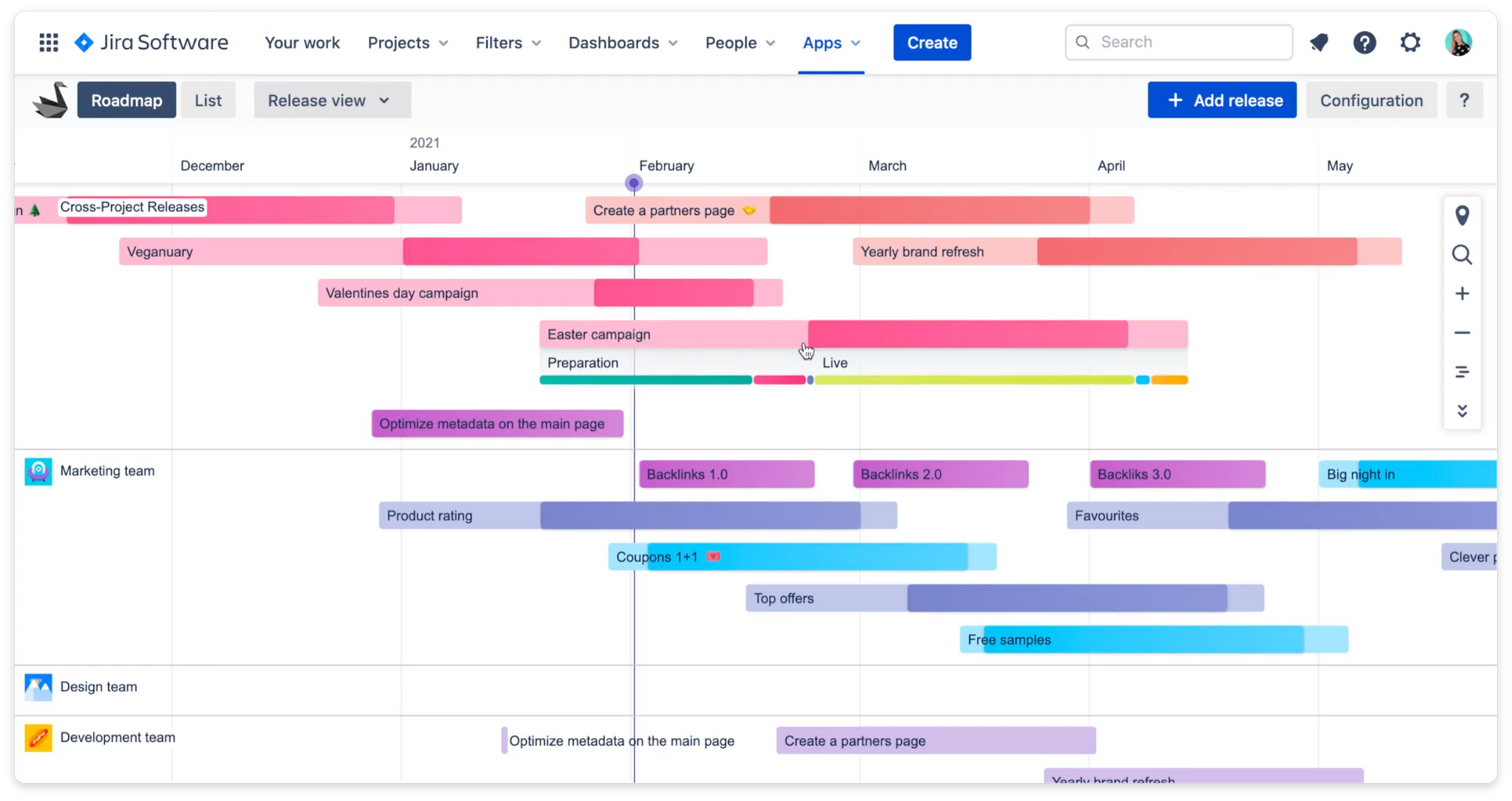 Swanly project management for Jira - roadmap
