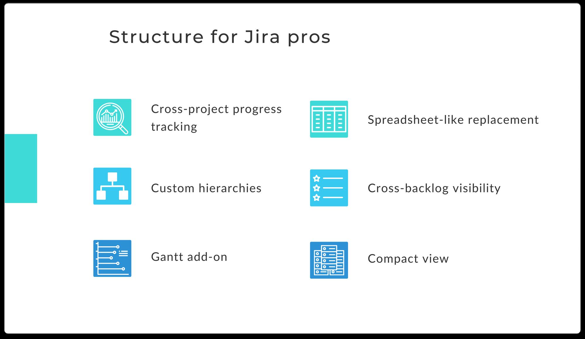 Pros for using Structure.Gantt for Jira
