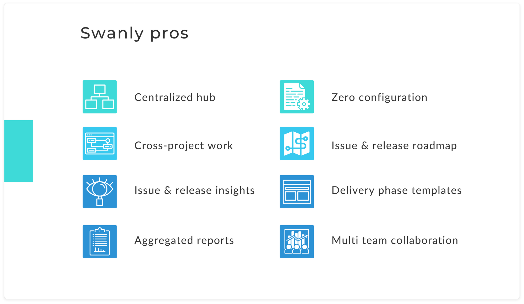 Swanly project plan hub for Jira - pros