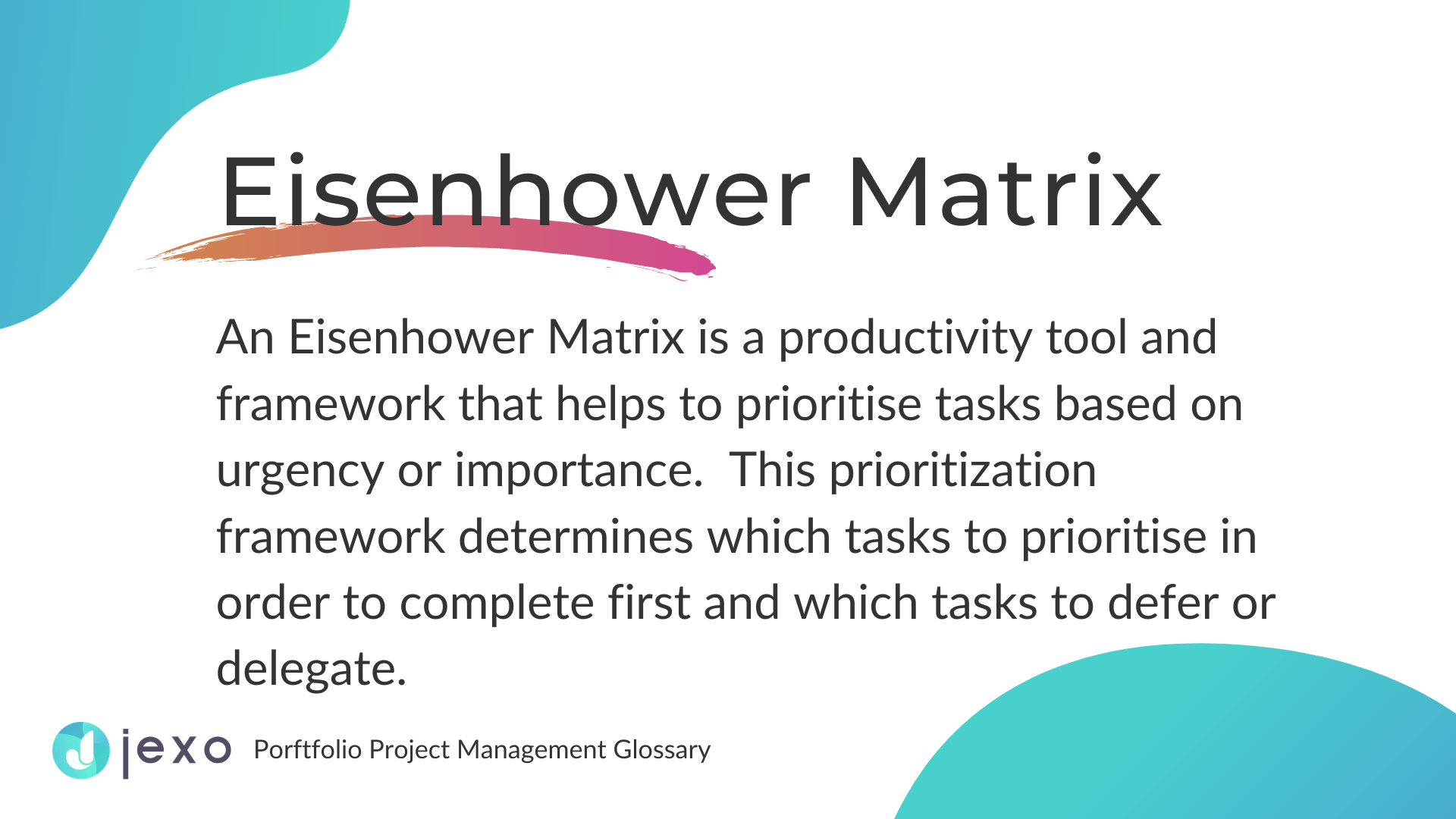 Definition: What is Eisenhower Matrix