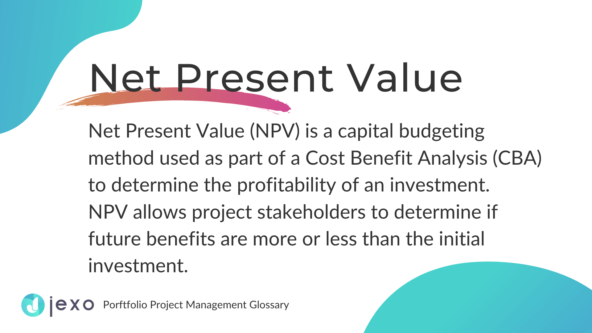 Definition: What is Net Present value?