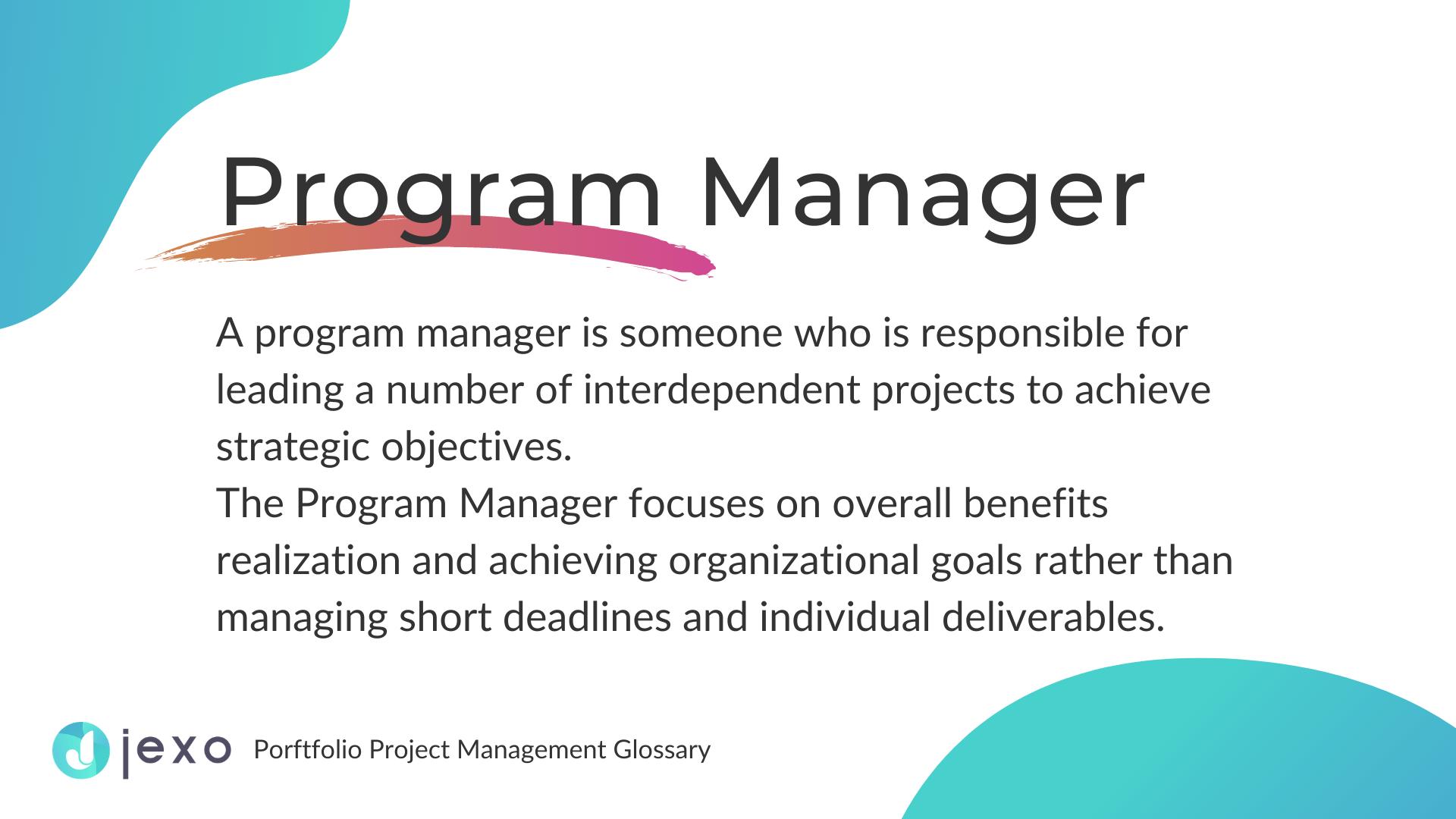 Definition: Progam manager