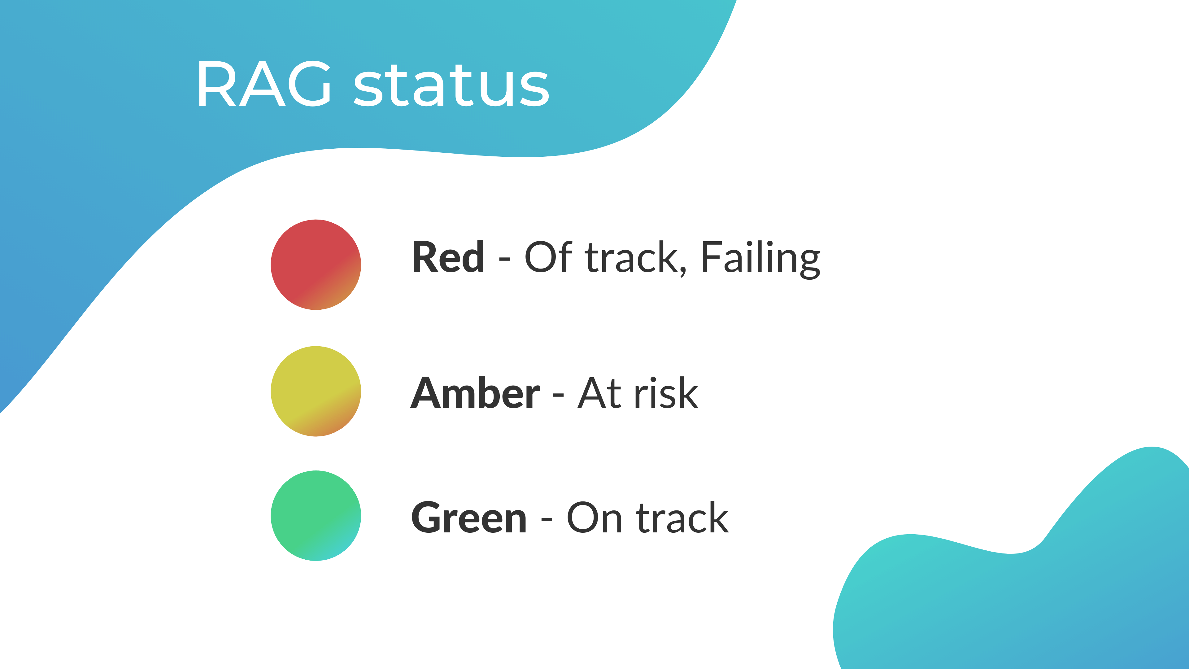 What are RAG statuses in project management and reporting.
