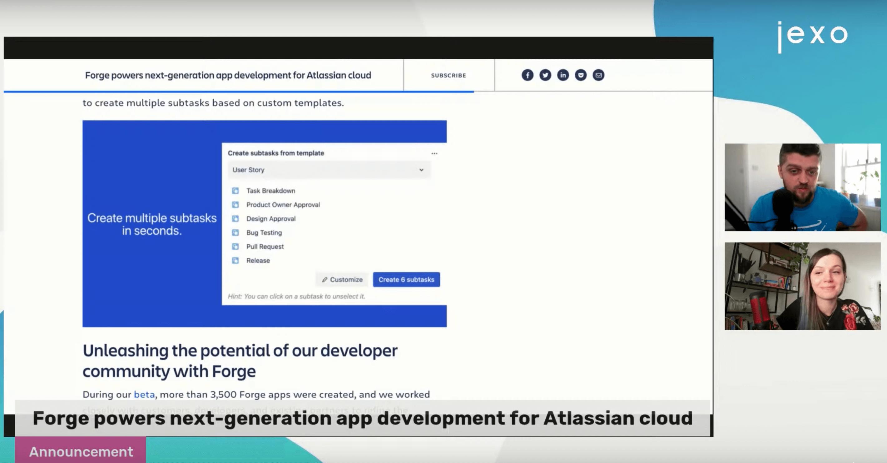 Atlassian announced Forge - new cloud development platform