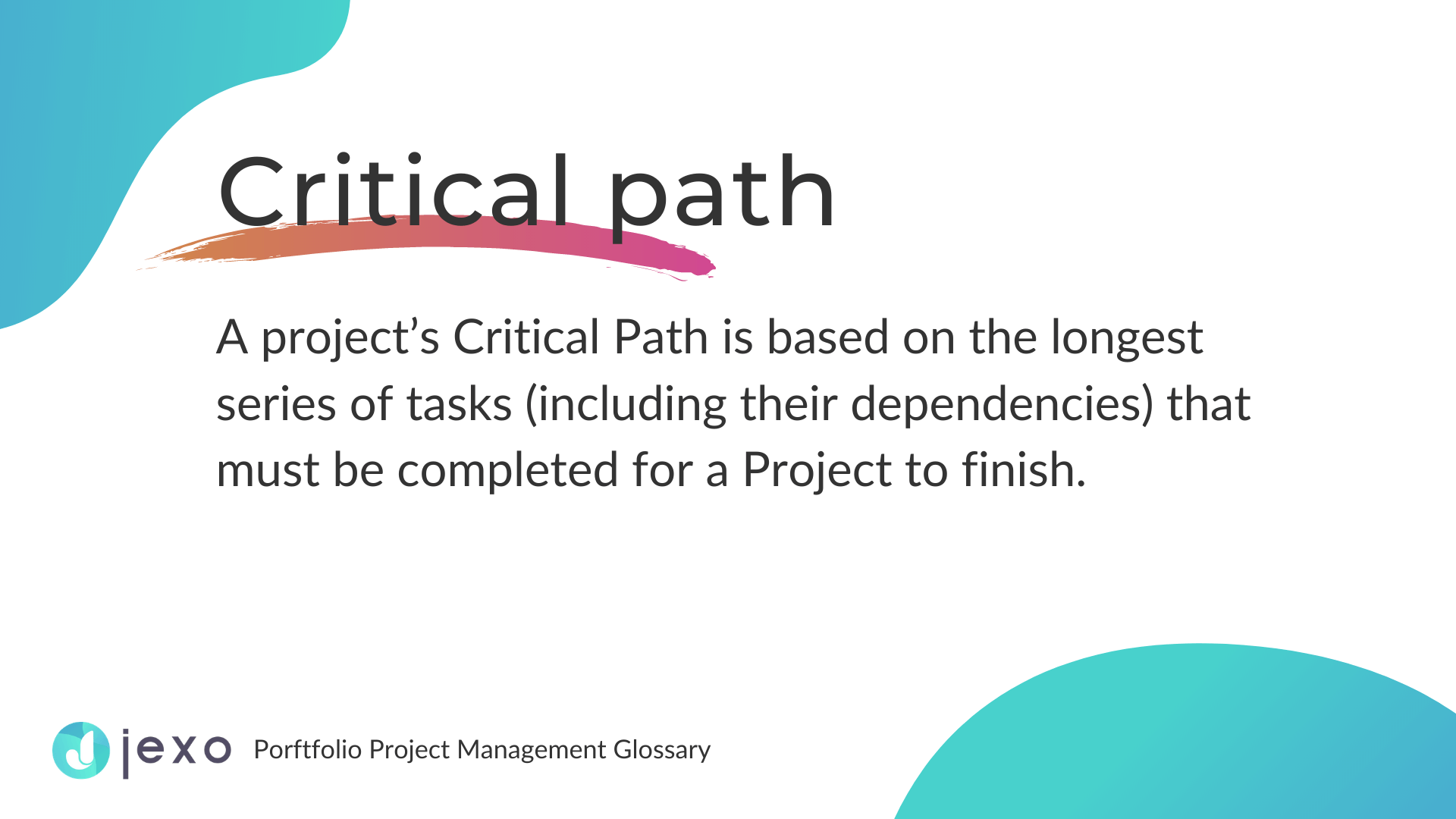 Definition: What is a Critical Path?