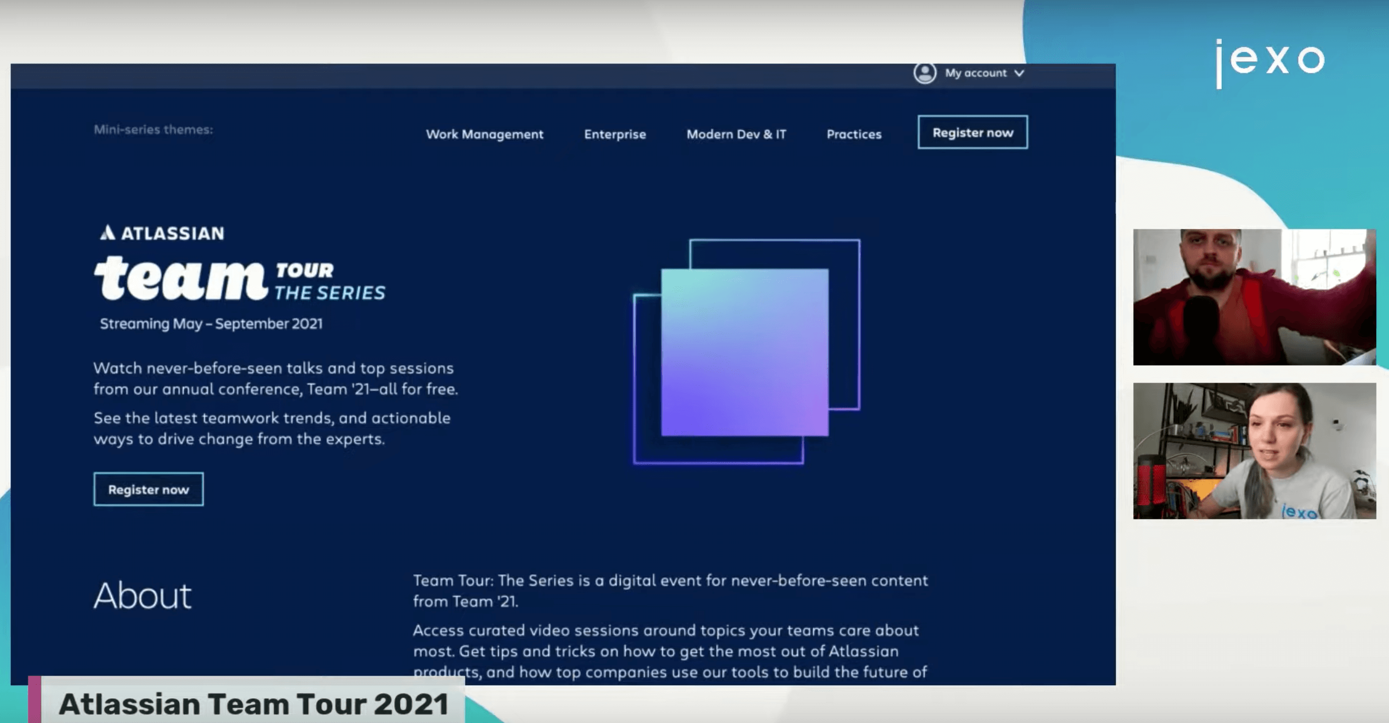 Monday coffee with Jexo: We discussed Atlassian Team Tour 2021
