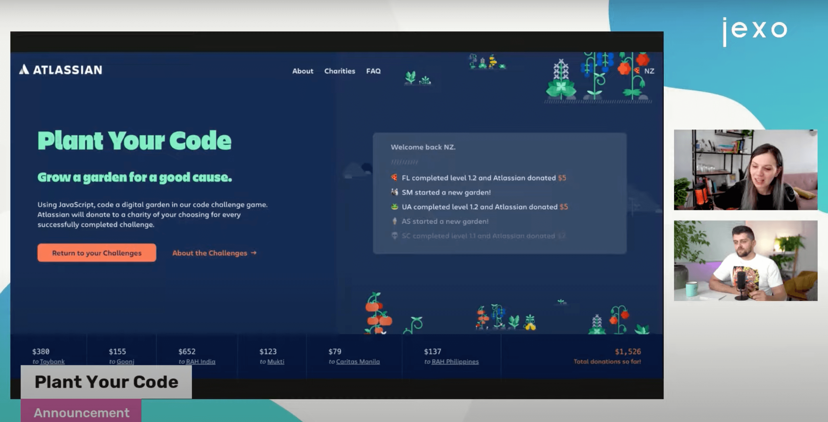 Plan your code - Atlassian donates to charities while you solve javascript challenges