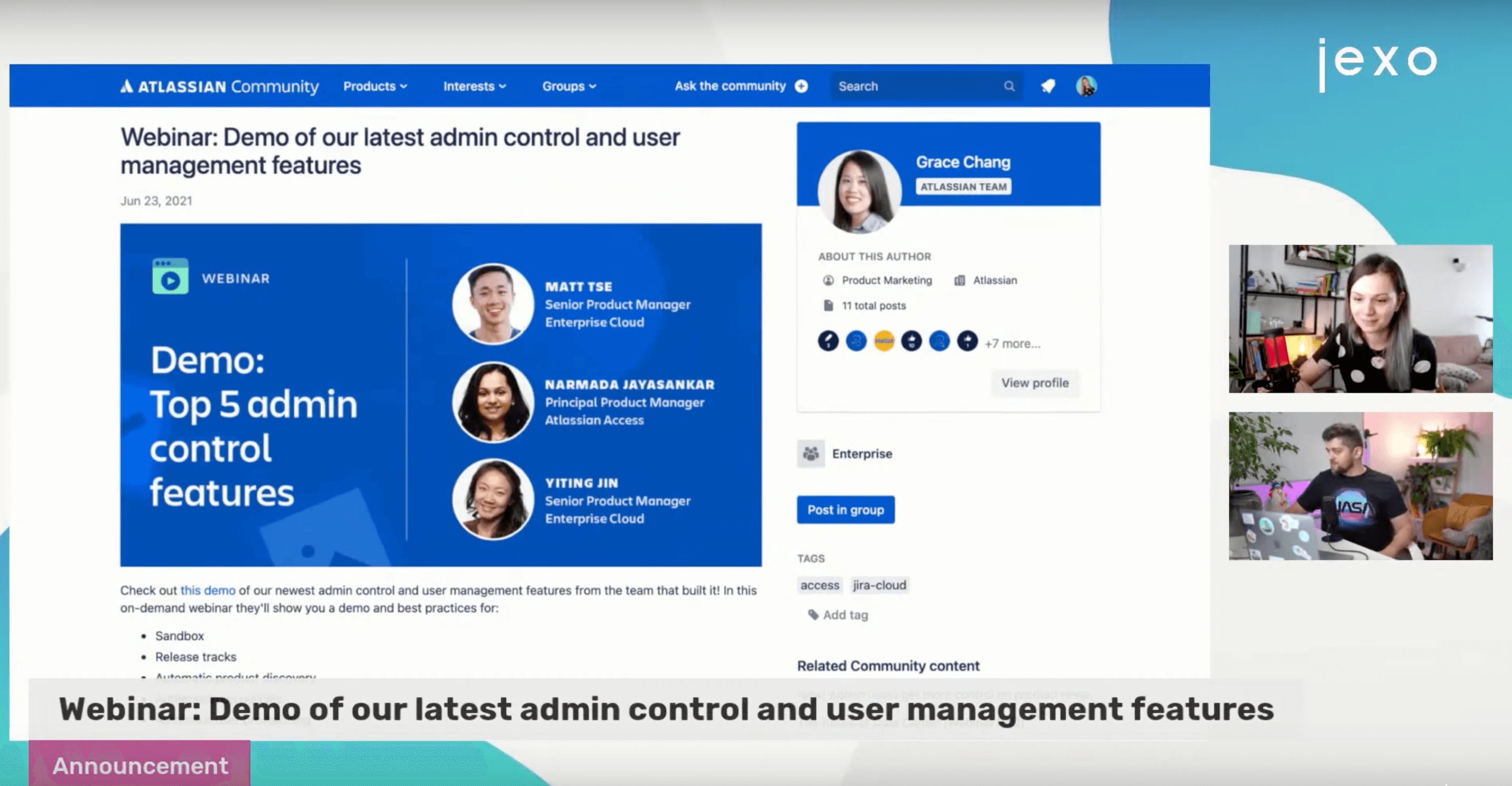 On demand webinar about latest features for Admins in Jira Cloud