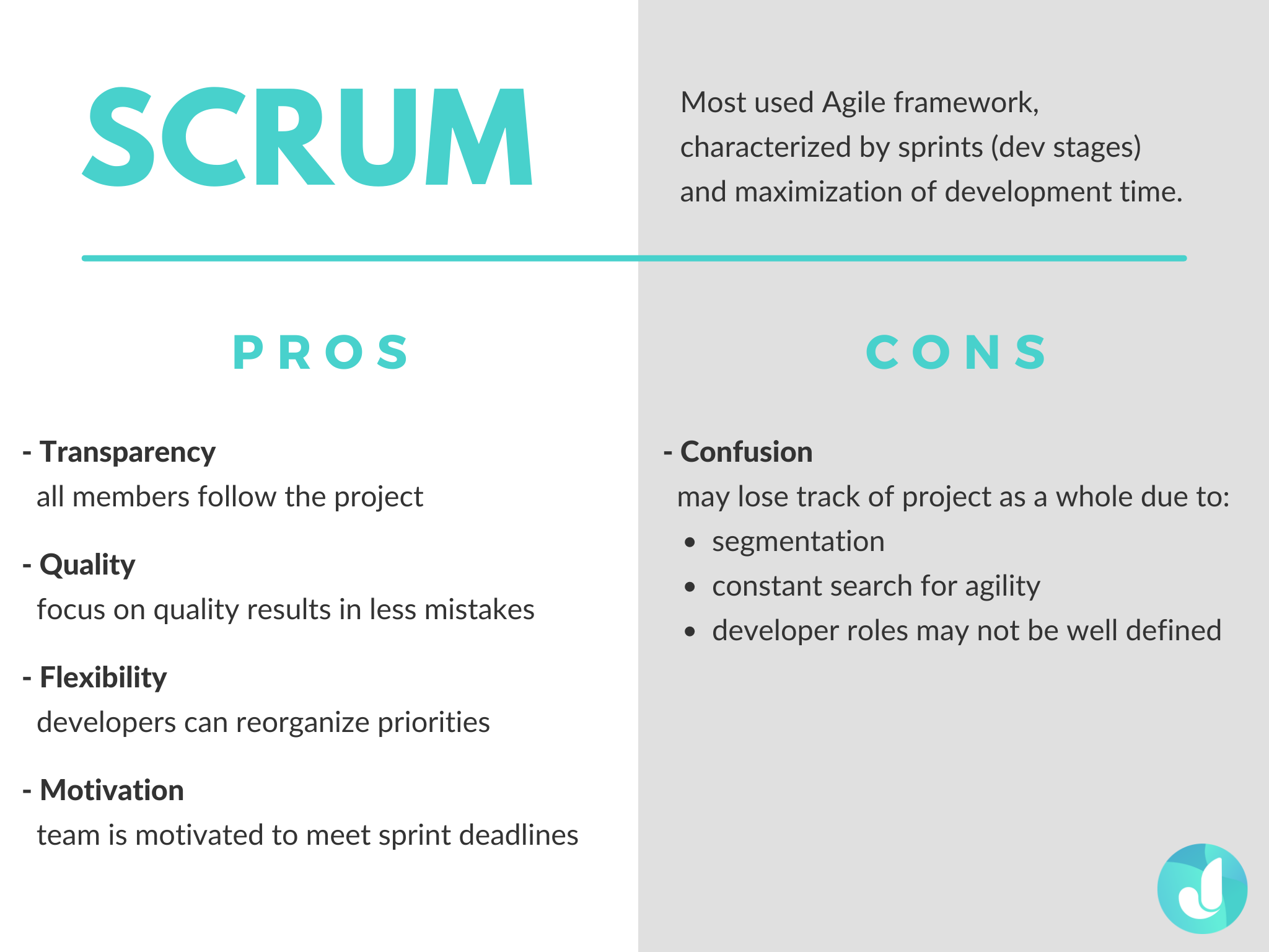 The pros and cons of Scrum Agile Methodology