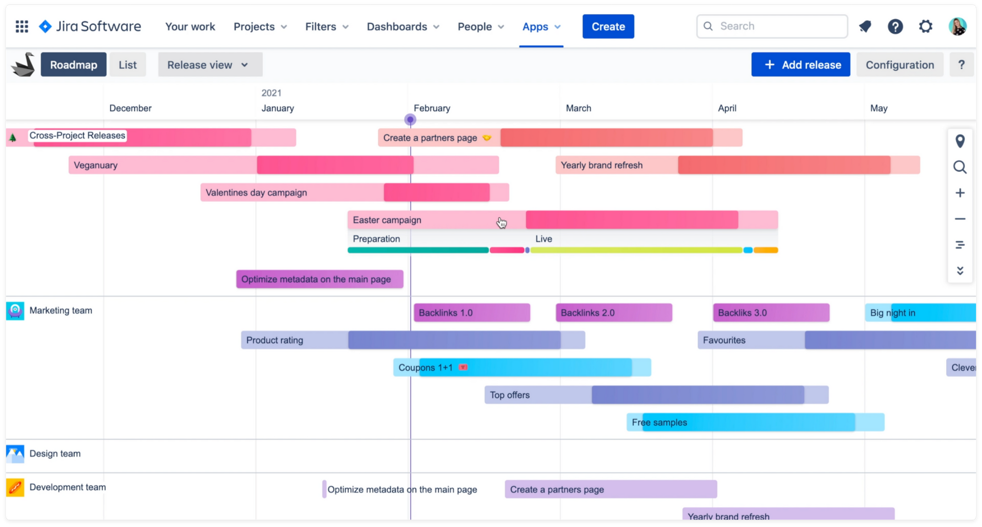 Swanly - your project, portfolio, product roadmap timeline for Jira