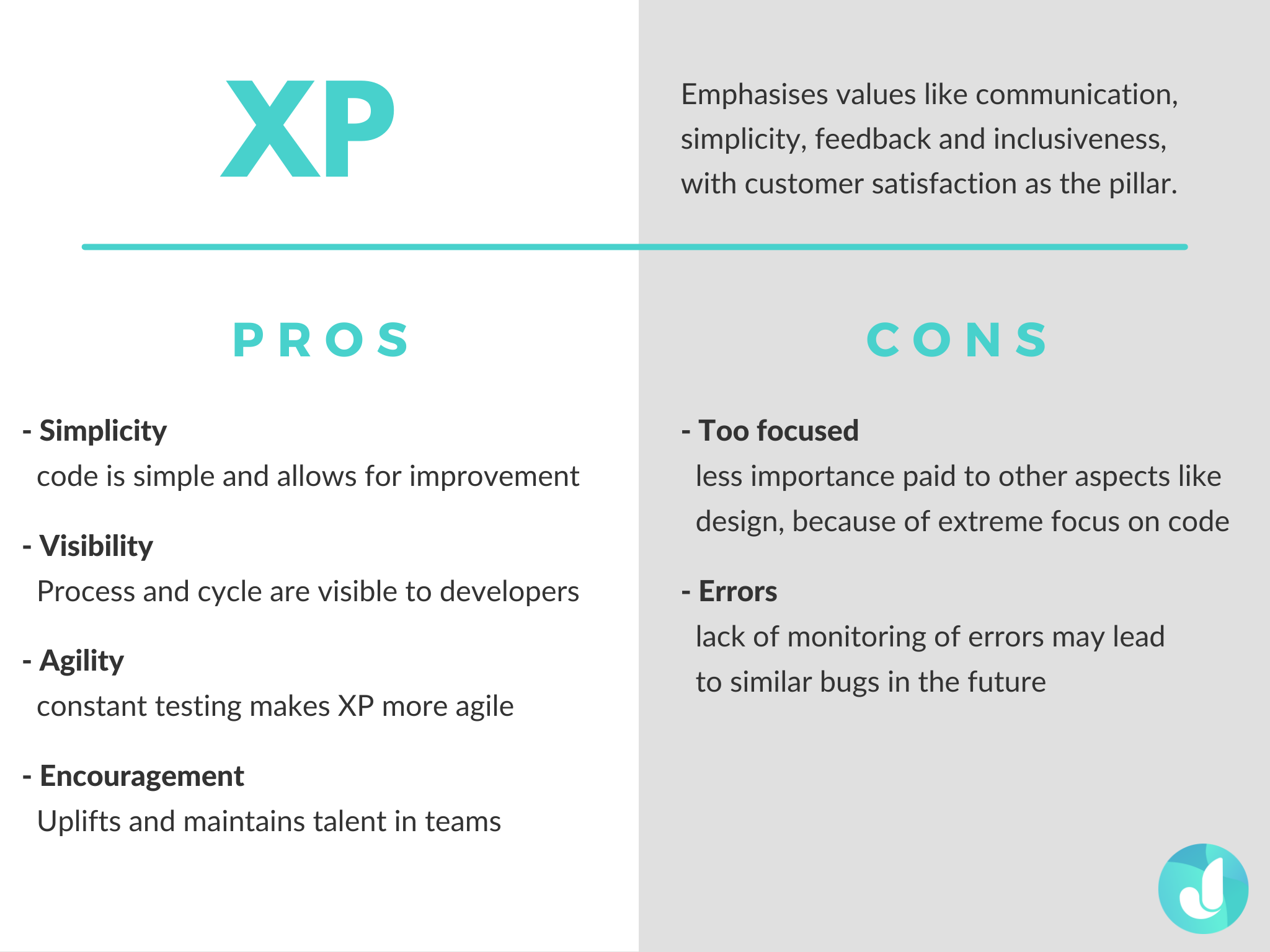 The pros and cons of XP Agile Methodology