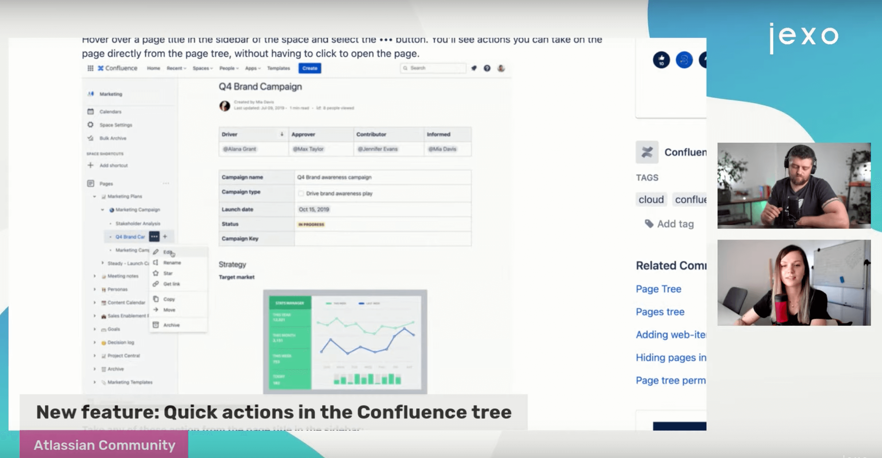 Atlassian News: Quick actions in your Confluence tree