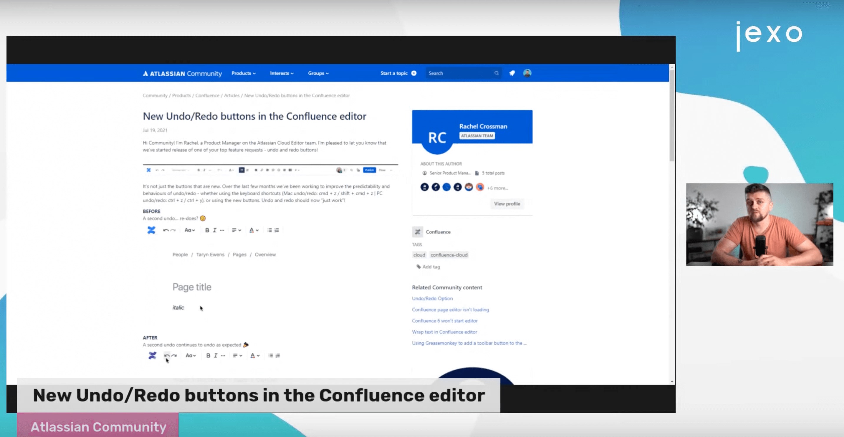 Atlassian News: Undo/redo buttons are being launched to Confluence Cloud