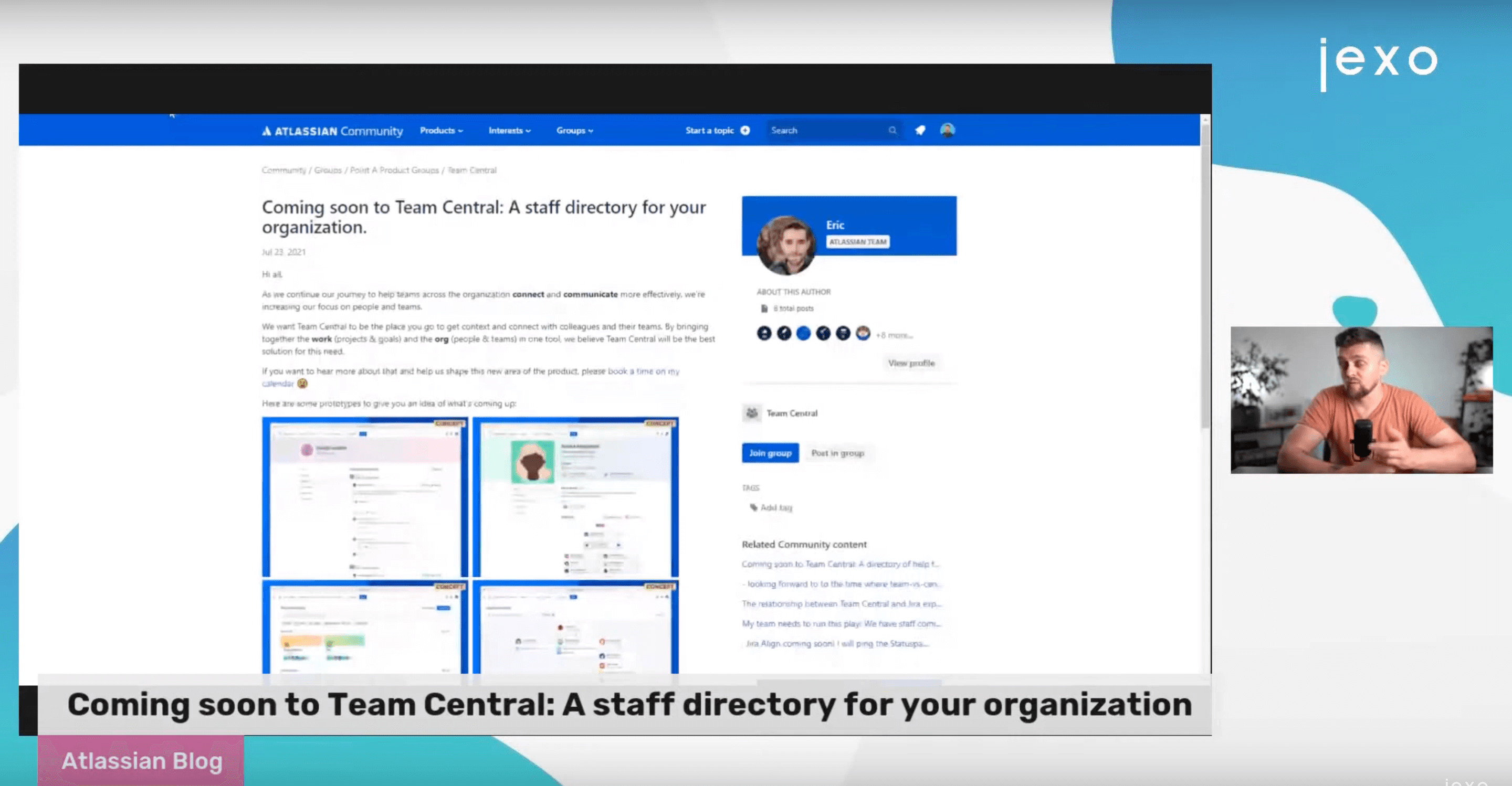 Atlassian News: Team Central announced new feature - Staff directory