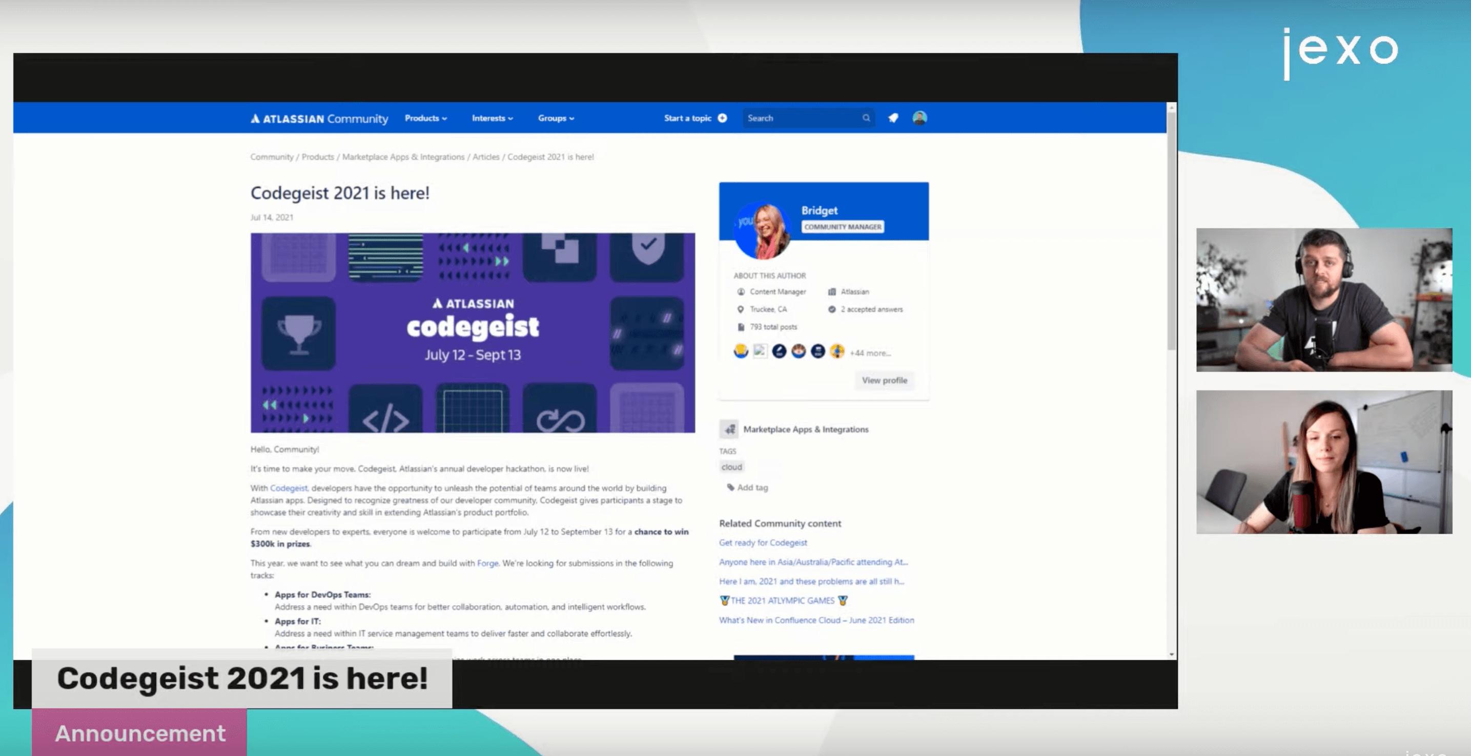 Atlassian News: Atlassians Hackathon Codegeist 2021 is here!