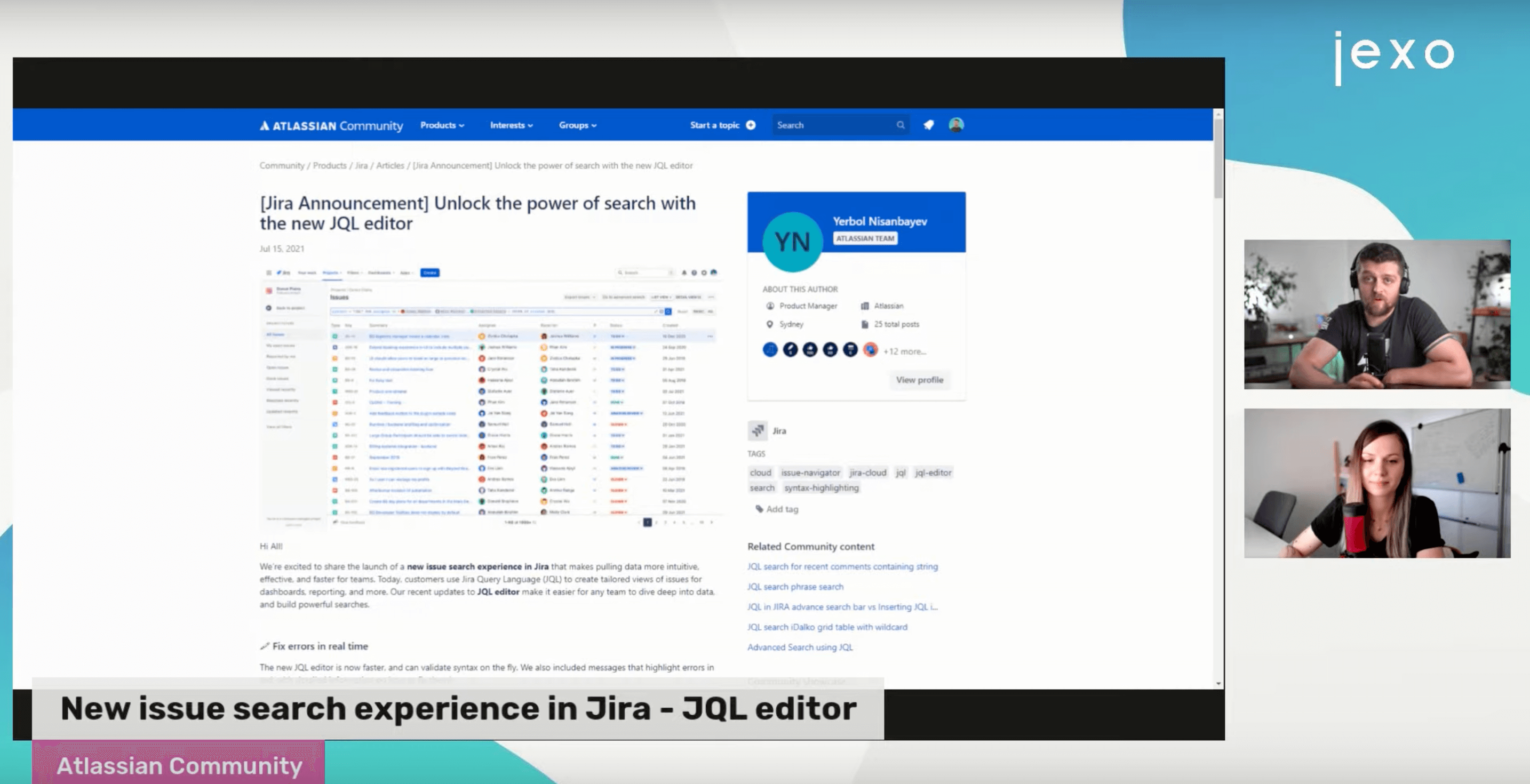 Atlassian News: New and Upgraded JQL editor is being rolled out.