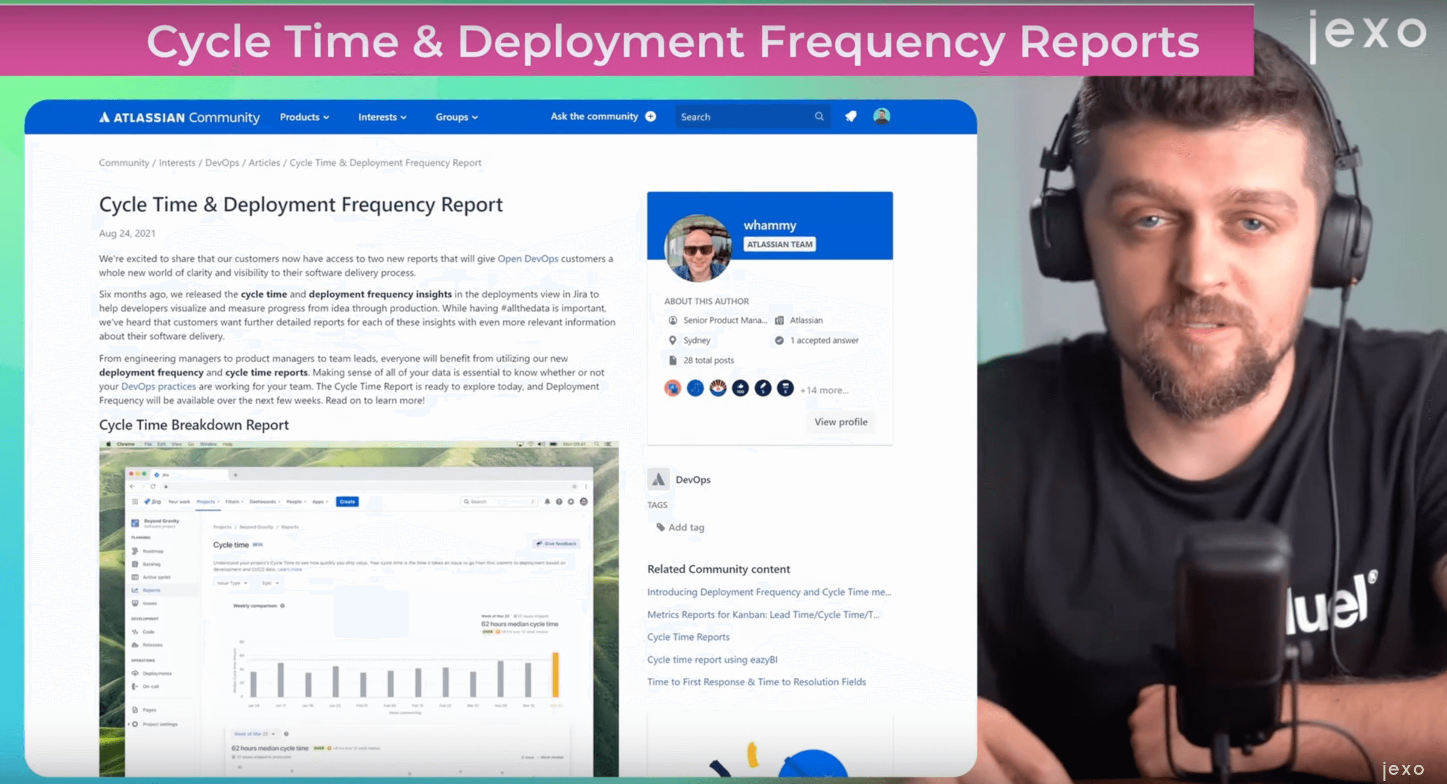 Atlassian news:  Cycle Time and Deployment frequency reports are available in Jira Cloud