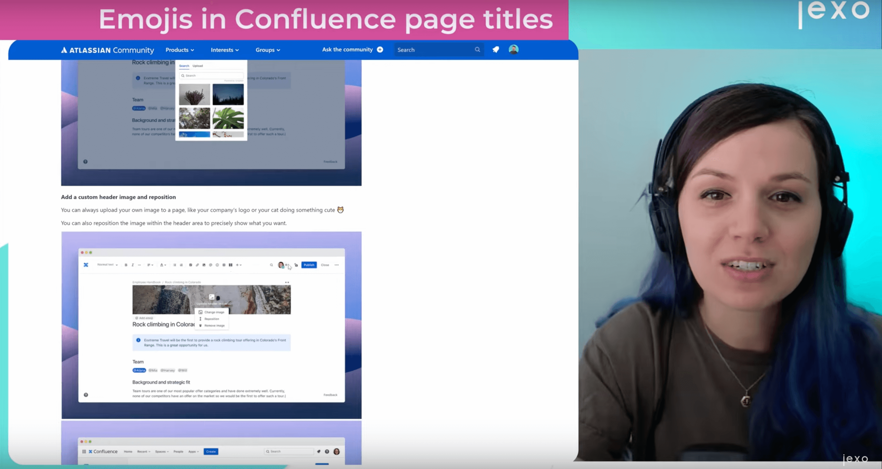 Atlassian news: Improvements to page's headers in Confluence