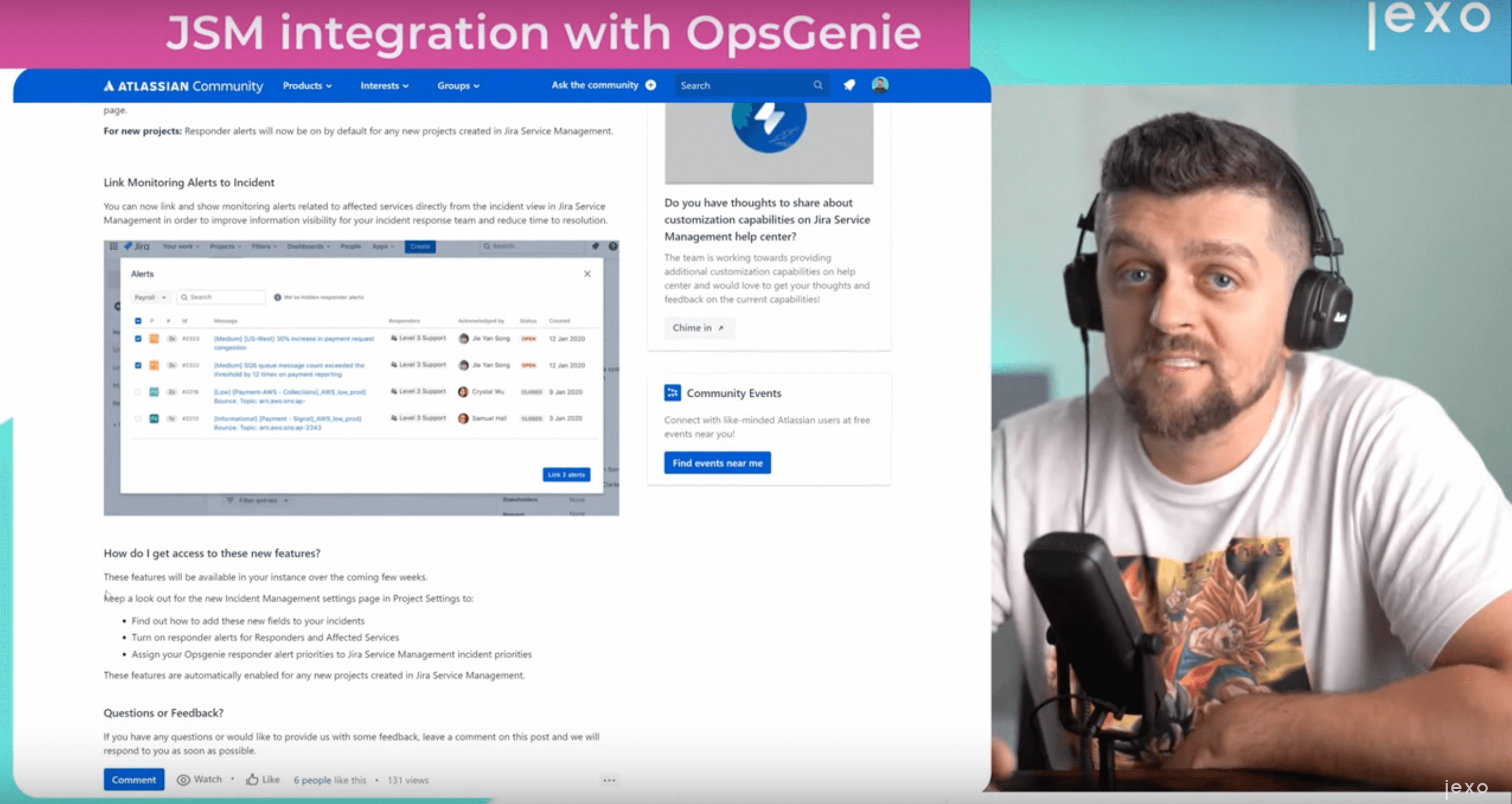 Atlassian news: Jira Service Management integration with Opsgenie is available on Jira Cloud