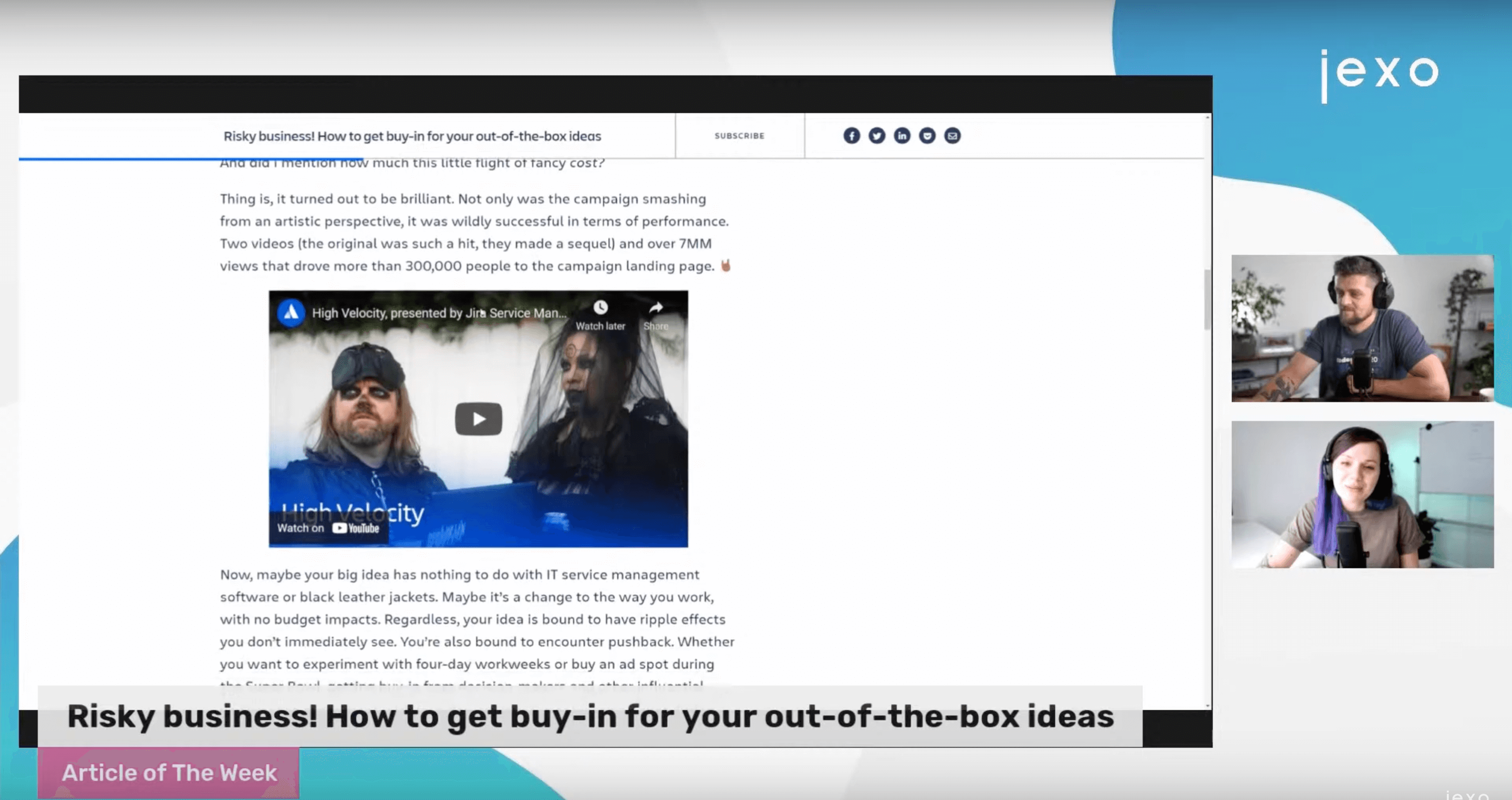 Atlassian News: New article about How to get buy in for risky ideas