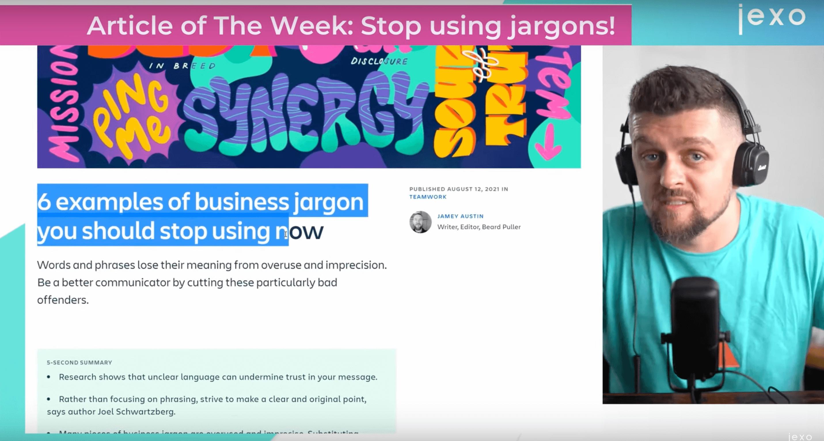 Atlassian News: Stop using business jargon!