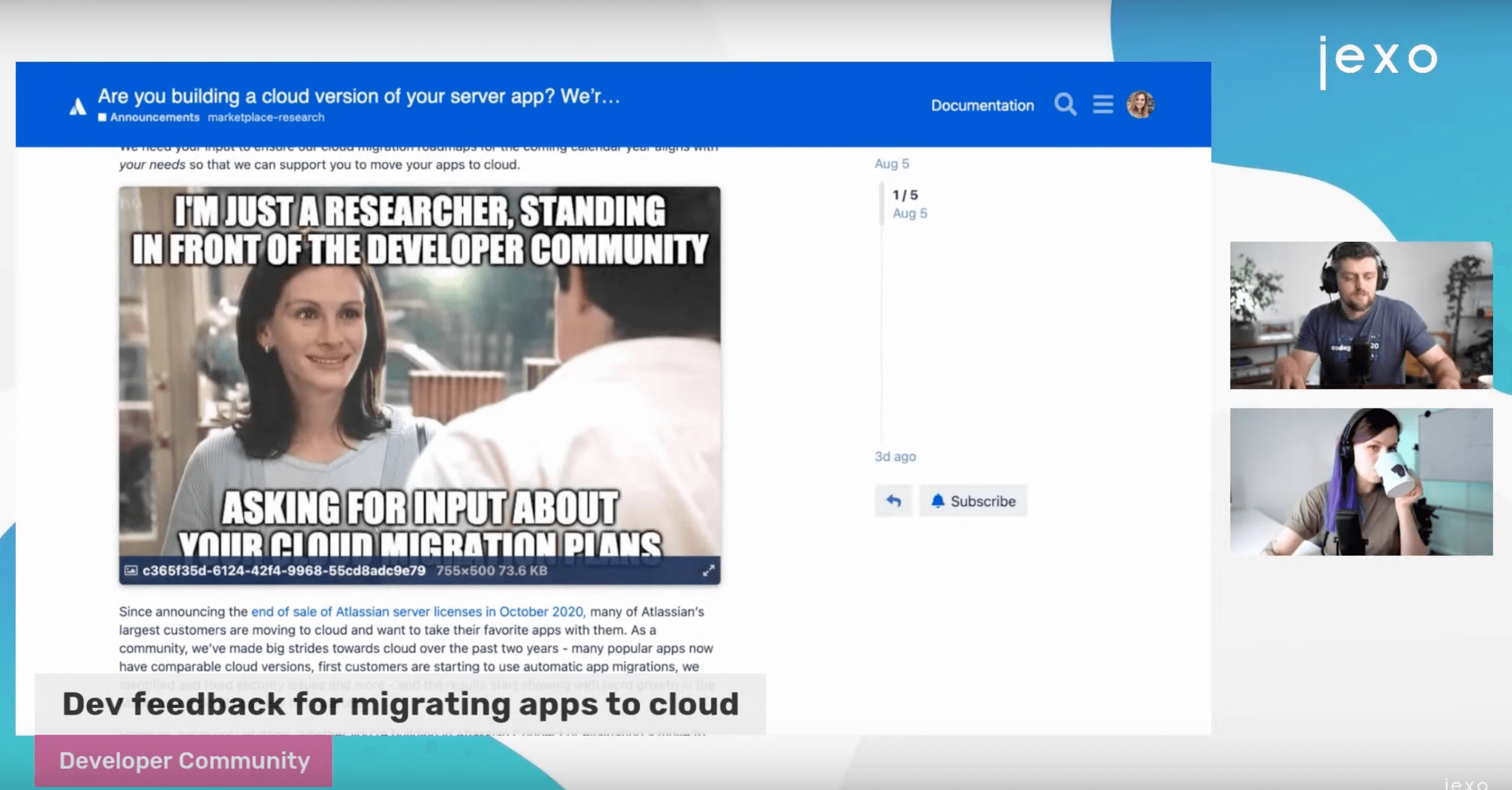Atlassian News: Dev feedback for migrating apps to cloud