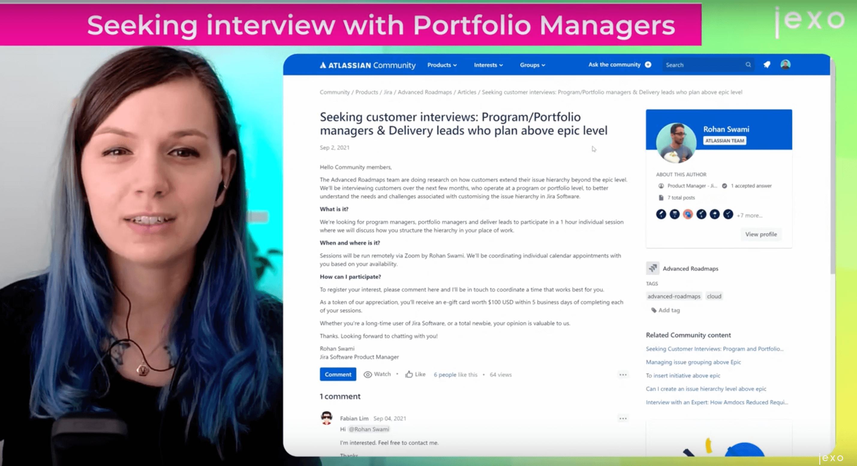 Atlassian News: Seeking interview with Portfolio Managers