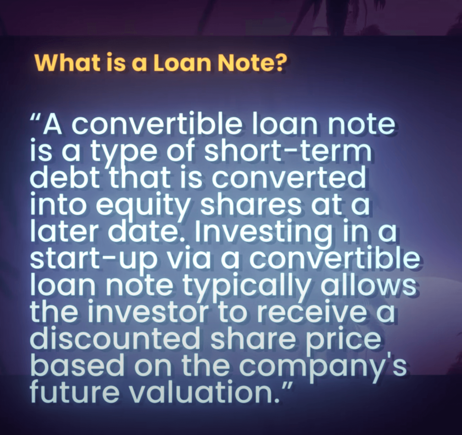 Definition: What is loan note?