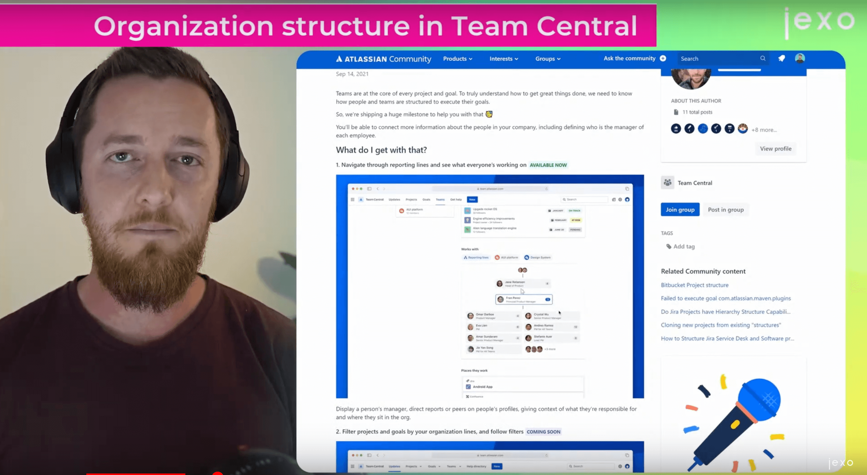 Atlassian news: Team central organisation structure and other improvements