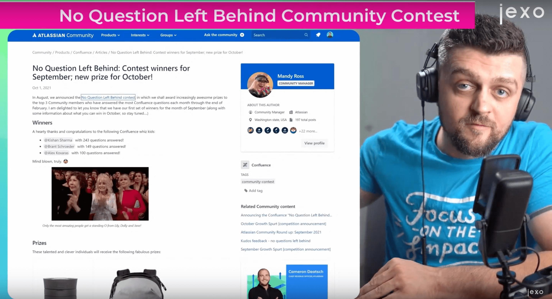 Atlassian news: No questions left behind Atlassian community contest