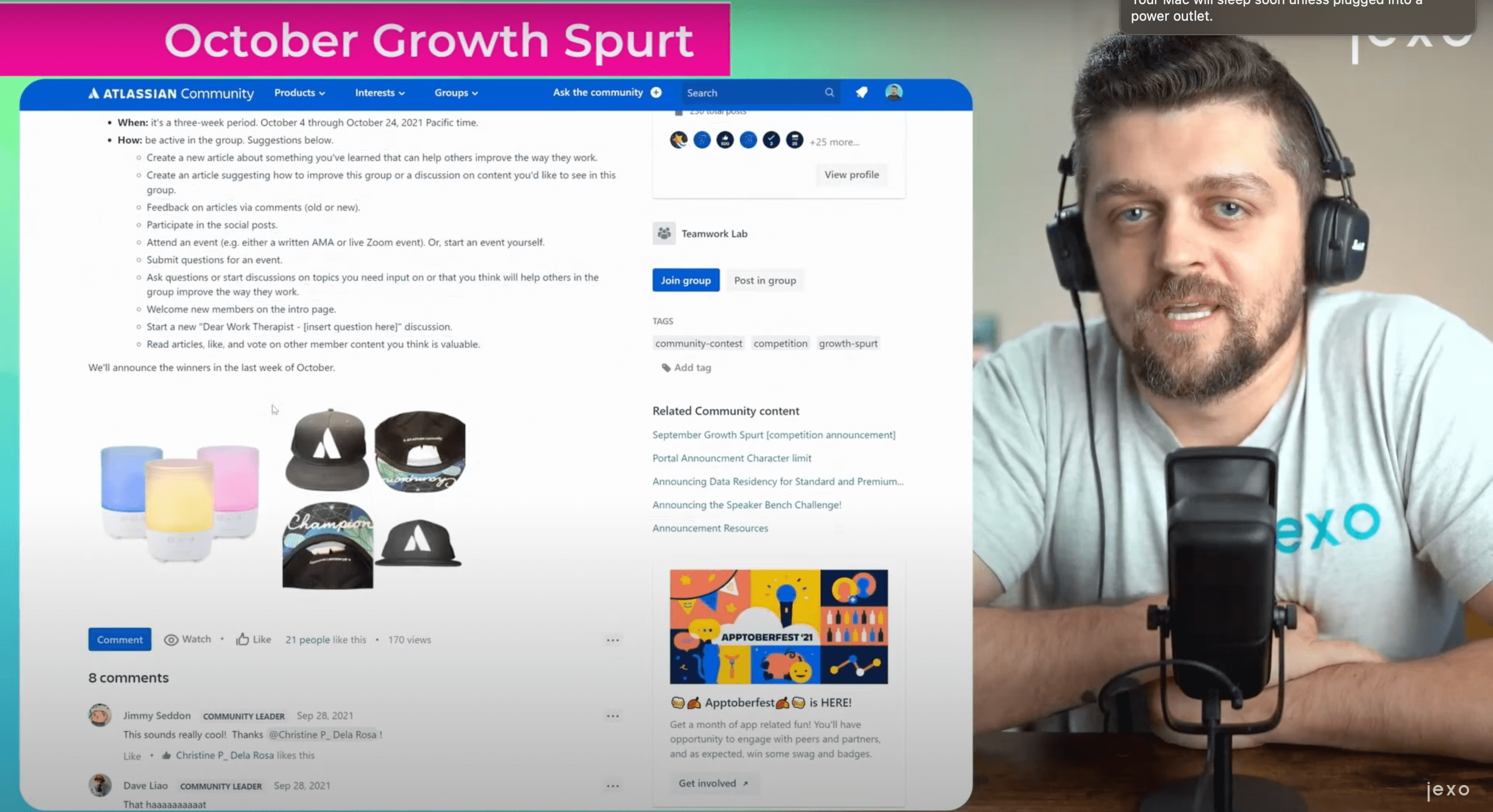 Atlassian news: October Growth Spurt Community event